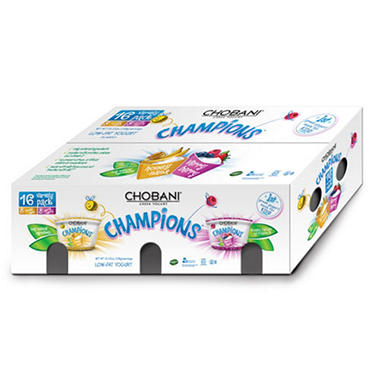 Chobani® Champions™ Greek Yogurt Variety Pack - 16/3.5 oz.