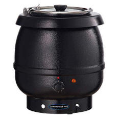 Commercial Pro ESKB1 Black Soup Kettle - 10.5 qt.
