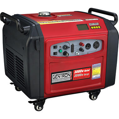 Gentron 3500W Digital Inverter Generator with Electric Push Start