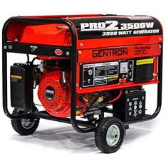 Gentron 3,000W / 3,500W Portable Gas Powered Generator w/ Electric Start