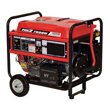 Gentron 7,500 Watt Portable Gas Generator with Electric Start