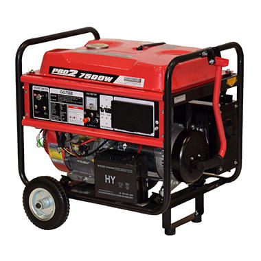Gentron 7500 Watt Portable Gas Generator with Electric Start