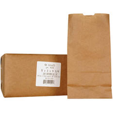 4# Kraft Paper Bags - 500ct