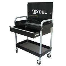 Excel Black Steel Tool Cart