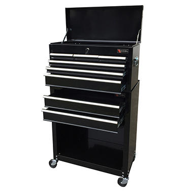 Excel - Top Chest and Roller Cabinet Combination - Black - 24""
