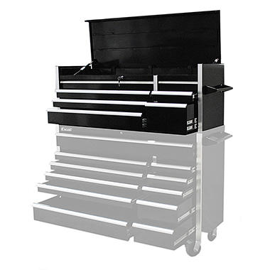 Excel - Heavy Duty Roller Cabinet - Black - 7 Slide Drawers