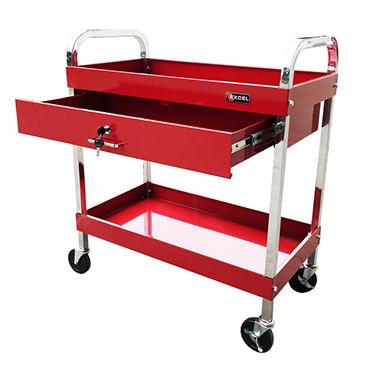 Excel Red Steel Tool Cart 30