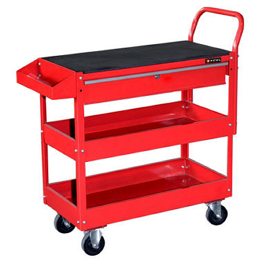 Excel - Steel Tool Cart with Rubber Work Surface