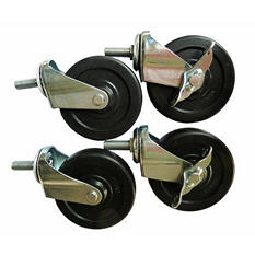 "Excel 4"" Industrial Casters for Excel NSF 4-Tier Wire Shelving (4 pk.)"