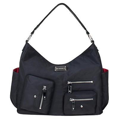 Amy Michelle Lotus Diaper Bag, Black