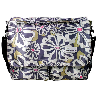Amy Michelle Seattle Diaper Bag, Charcoal Floral