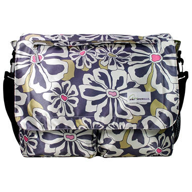 Seattle Diaper Bag - Charcoal Floral