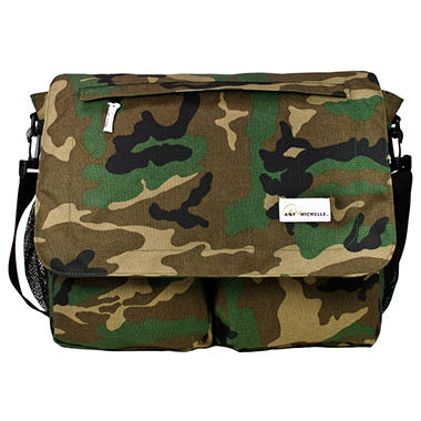 Amy Michelle Seattle Diaper Bag, Camo