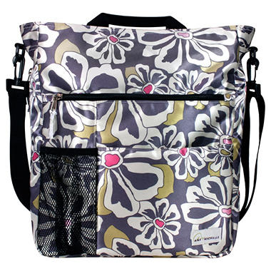 Amy Michelle Lexington Diaper Bag, Charcoal Floral