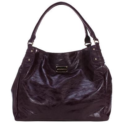 Amy Michelle Zebra Diaper Bag, Eggplant