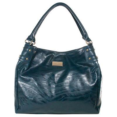 Amy Michelle Zebra Diaper Bag, Turqoise