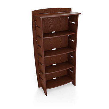 Bamboo Bookcase - Espresso Ash Finish - 59