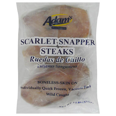 Adam's Scarlet Snapper Steaks - 2 lbs.