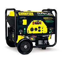 Champion 3500W / 4000W (Gasoline/Propane) Electric Start Portable Generator