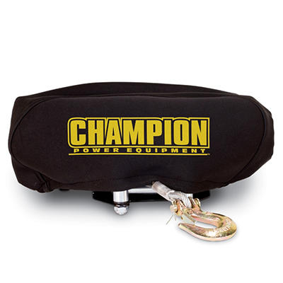 Champion Power Equipment Neoprene Winch Cover Fits 4,000lb - 4,500 lb.