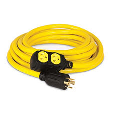 25ft Generator Cord, L14-30P to (4) 5-20R