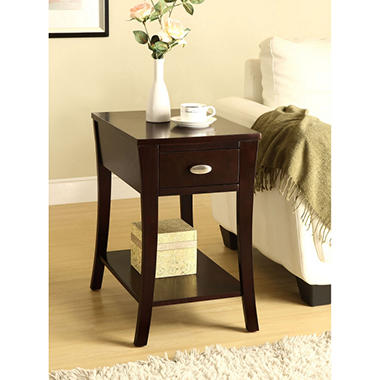 Percy Espresso Side Table