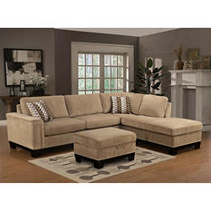 Yosemite Sectional Sofa with Ottoman- Right Facing