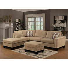 Yosemite Sectional Sofa with Ottoman- Left Facing