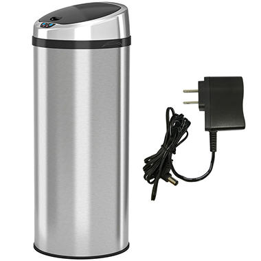 iTouchless Round Stainless Steel Automatic Sensor Touchless Trash Can  - 11 gallon