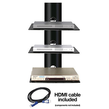Ready Set Mount Triple Wall-Mount Shelf System