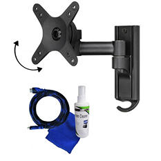 "Ready Set Mount Full Motion TV Wall Mount w/ 8ft HDMI Cable - Fits 13"" to 37"" extends 7.36"""
