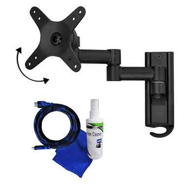 Ready Set Mount Full Motion TV Wall Mount w/ 8 ft HDMI cable - Fits 13
