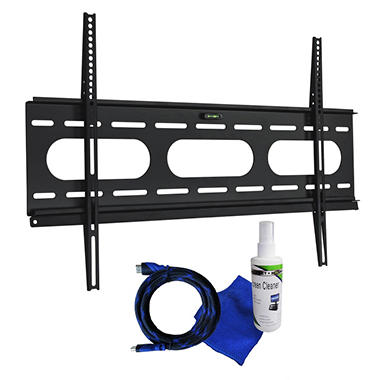 Ready Set Mount Low Profile TV Wall Mount w/ 8ft HDMI Cord- Fits 37