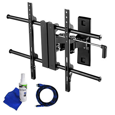 Ready Set Mount Full Motion TV Wall Mount w/ 8 ft HDMI cable - Fits 26