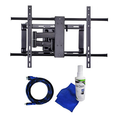 Ready Set Mount Full Motion TV Wall Mount w/ 8 ft HDMI cable - Fits 37