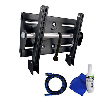 Ready Set Mount Full Motion TV Wall Mount w/ 8 ft HDMI cable - Fits 27