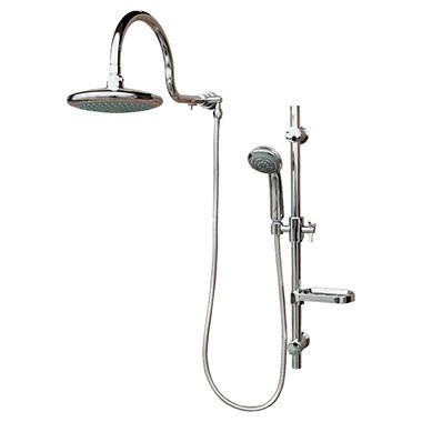 PULSE AquaRain ShowerSpa with Adjustable Slide Bar in