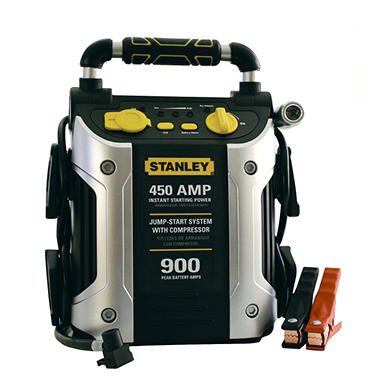 Stanley - 450 Amp Battery Jump-Starter with Compressor