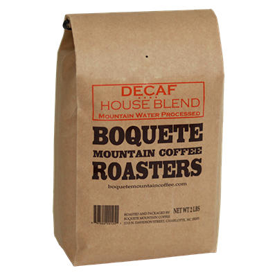 Boquete Mountain Coffee - Decaf House Blend - Whole Bean - 2 lbs.