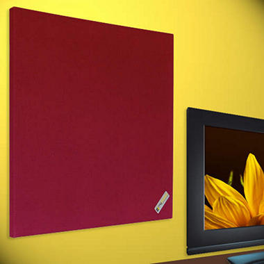 "Acoustic Panels - 24"" x 24"" - 2 pk. - Burgundy"