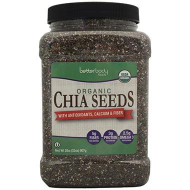 BetterBody Foods Organic Chia Seeds (32 oz.)