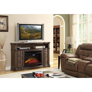 McIntyre Electric Fireplace w/ Media Entertainment Mantel