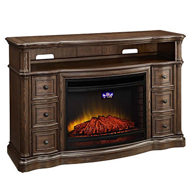 Details about McIntyre Electric Fireplace,TV Entertainment Stand, TV