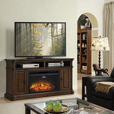 Dawson Electric Fireplace and Media Entertainment Mantel