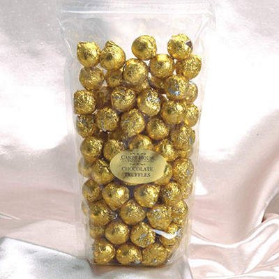 Candy House Chocolate Truffles in Gold Foil