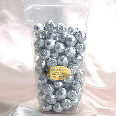 Candy House Chocolate Truffles in Silver Foil