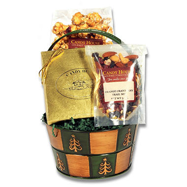 "12 Unit Multi-Pack of Candy House ""Jolly Holiday"" Basket of Chocolates"