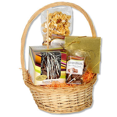 Candy House Caramel Apple Harvest Basket