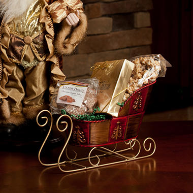 "Candy House ""Sleigh Ride"" Basket of Chocolates"
