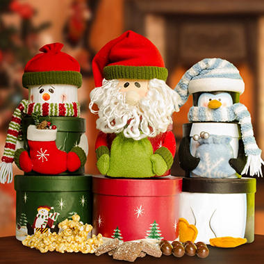 Candy House Santa Stackable of Treats